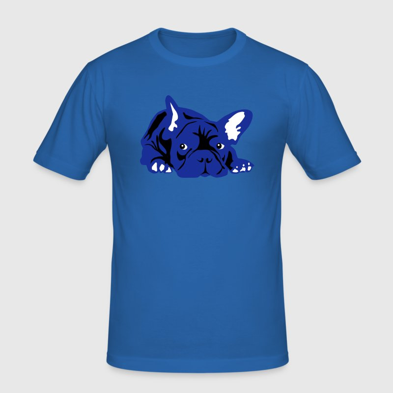 Franse Bulldog - 3 kleuren - slim fit T-shirt