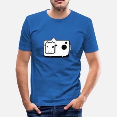 Koskälla Cow Cow Comic Gift - Slim Fit T-shirt herr