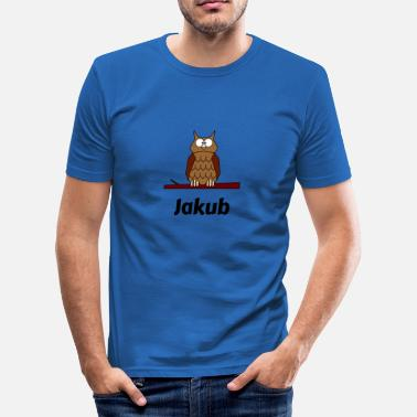 Jakub Barn School Born uggla motiv Jakub - Slim Fit T-shirt herr
