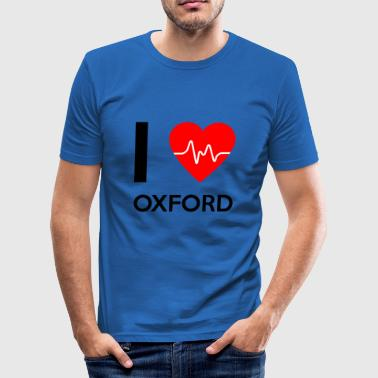 Oxford I Love Oxford - jeg elsker Oxford - Slim Fit T-skjorte for menn