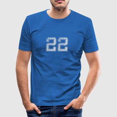 Number 22 Number 22 Number Twenty Two Two Two Gift - Men's Slim Fit T-Shirt