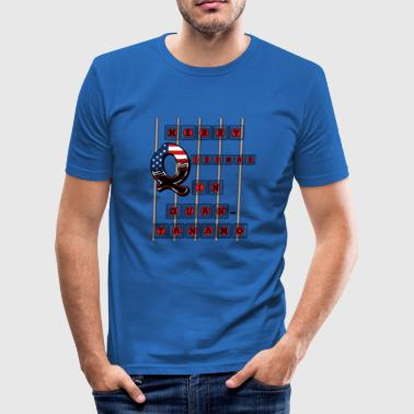 Merry Q istmas in Guantanamo - Männer Slim Fit T-Shirt