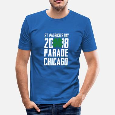 Drowning The Shamrock St. Patrick's Day 2018 Parade Chicago Shamrock - Men's Slim Fit T-Shirt