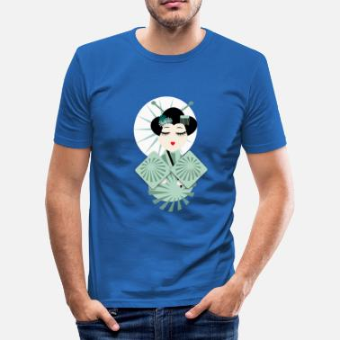 Geisha geisha - Slim fit T-skjorte for menn