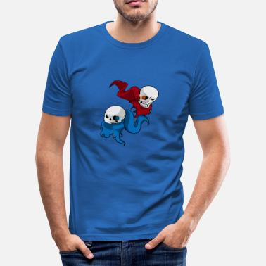 Undertale San / papyrus - Slim Fit T-shirt herr