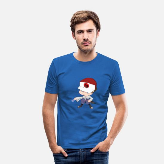 Kawaii T-Shirts - Chibi - Mannen slim fit T-shirt koningsblauw