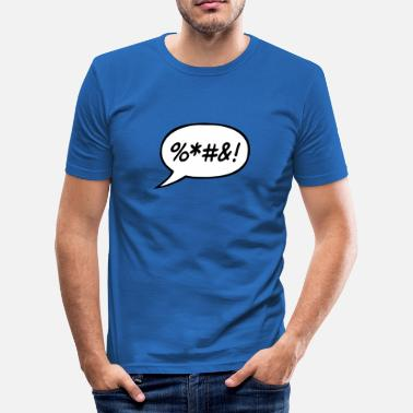 Wütend Blase angry bubble - Männer Slim Fit T-Shirt