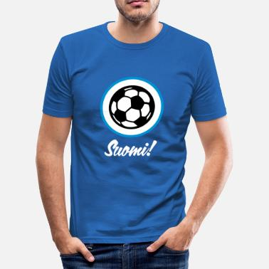 Football Finland Finland Football Emblem - Men's Slim Fit T-Shirt