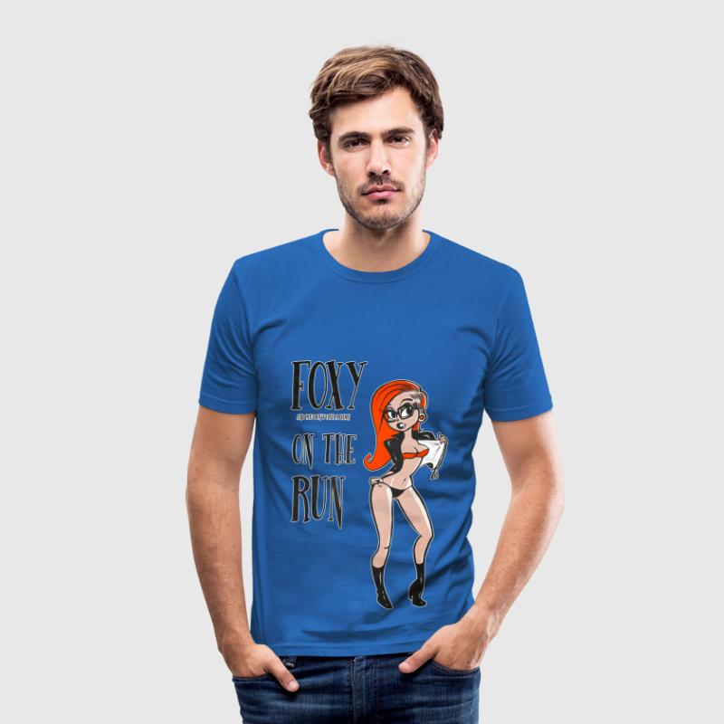 Modern Pinup Retro Cartoon Style Red - Men's Slim Fit T-Shirt