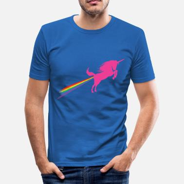 Fart Rainbow Unichorn Rainbow Fart - Men's Slim Fit T-Shirt