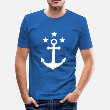 Hanseatic League Anchor star Northern Germany coast water sports  - Men's Slim Fit T-Shirt