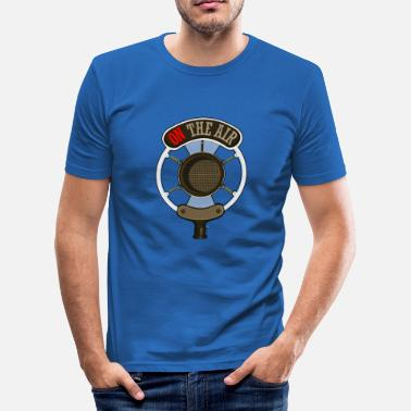Retro Micro Retro Microphone - Men's Slim Fit T-Shirt