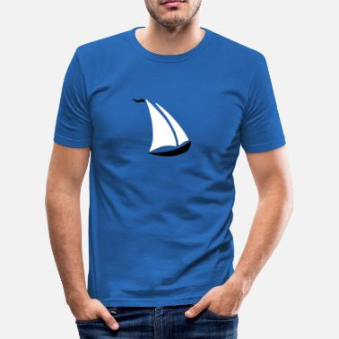 Kiel Sailing City Sailing--.svg - Männer Slim Fit T-Shirt