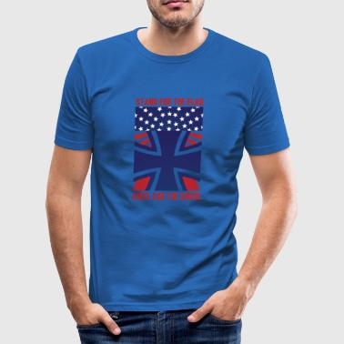 Vielseskontor Stå op for Flag USA gave gaveide - Herre Slim Fit T-Shirt