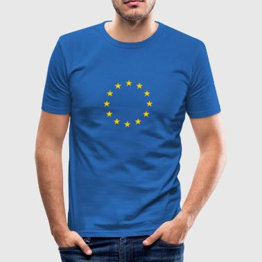 EU Flag Stars  - Men's Slim Fit T-Shirt