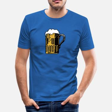 Fucked Oktoberfest Beer is fucking awesome - Men's Slim Fit T-Shirt