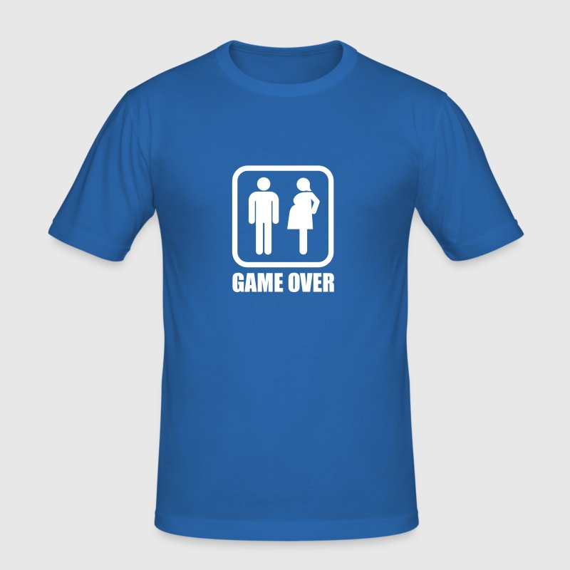 Game over - schwanger - Männer Slim Fit T-Shirt
