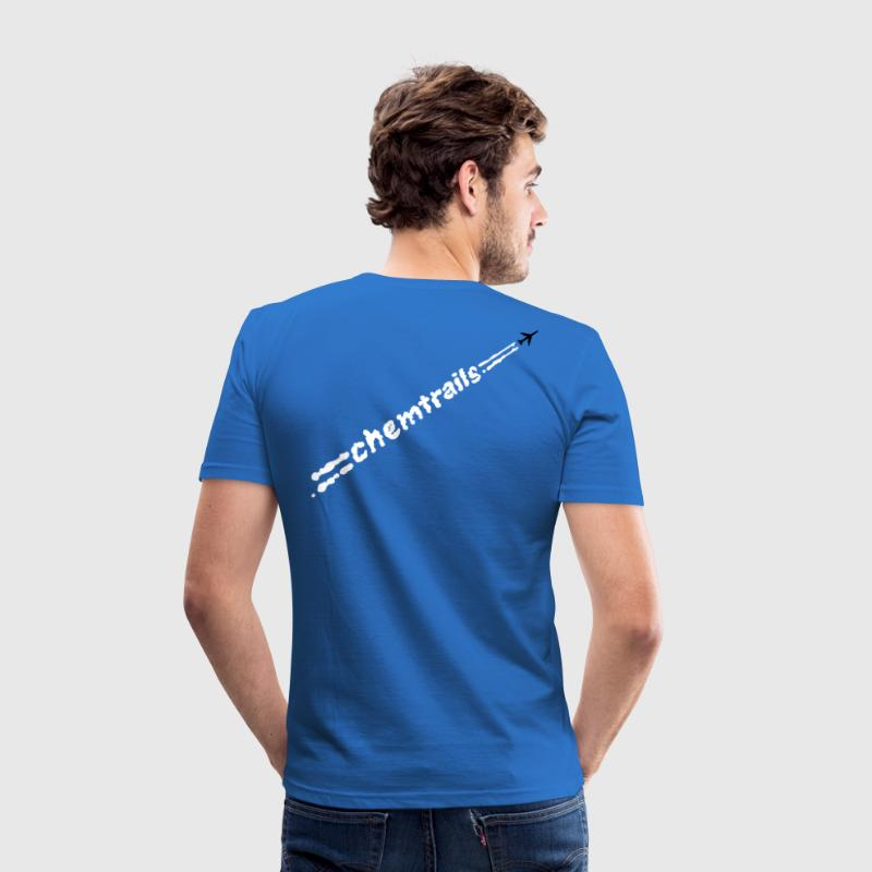chemtrails text - slim fit T-shirt