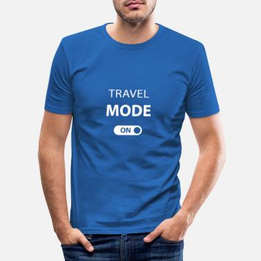 Ado TRAVEL Fashion On - T-shirt de vacances de voyage drôle - T-shirt moulant Homme