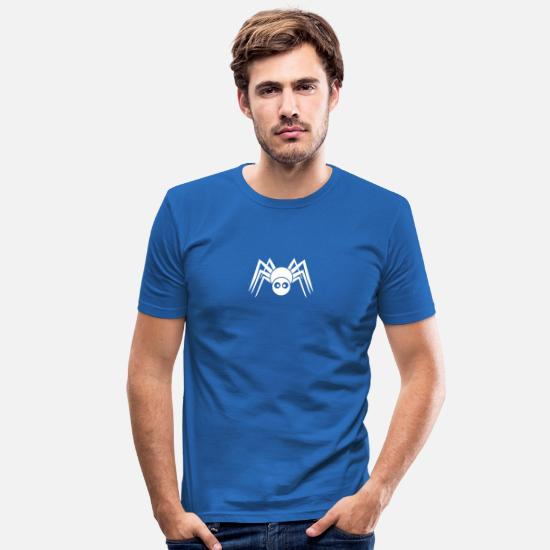 Halloween T-Shirts - spider 1c friendly - Men's Slim Fit T-Shirt royal blue