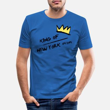 Yellow King of New York Yellow Crown Yellow Crown - Men's Slim Fit T-Shirt