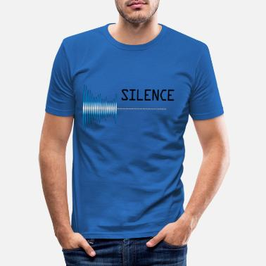 Sound silence Sound pollution Pollution - Men's Slim Fit T-Shirt