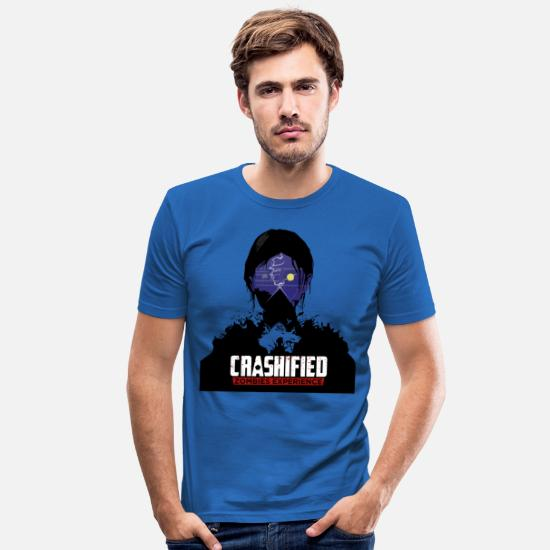 Classified T-shirts - Crashified — Hoodie - T-shirt moulant Homme bleu roi