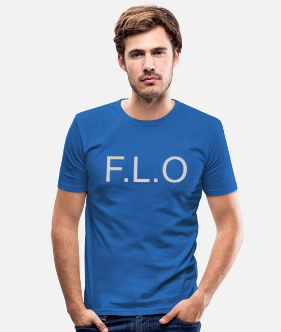 Name Day T-Shirts - Flo Name Florian Name Day First Name Gift - Men's Slim Fit T-Shirt royal blue