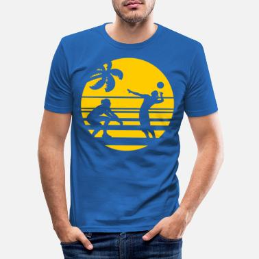 Beachvolleyball VolleyBall (Palm-Beach-Edition) - Männer Slim Fit T-Shirt