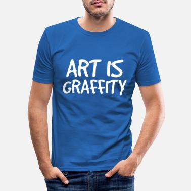 Graffiti ART er graffiti graffiti - Slim fit T-shirt mænd