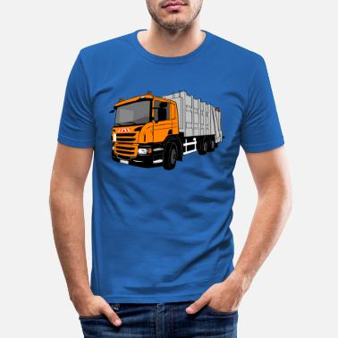 Garbage Car - Garbage Truck - Men's Slim Fit T-Shirt