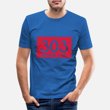 Basslines 303 Bassline - Men's Slim Fit T-Shirt