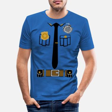Police Police Patrol Costume - Men's Slim Fit T-Shirt
