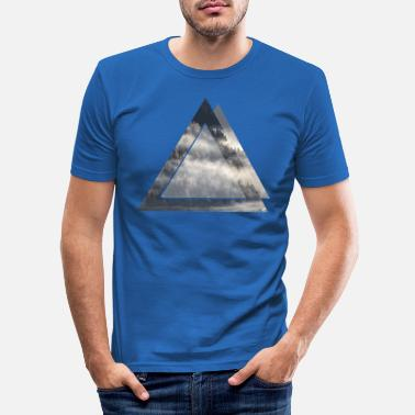 Nature triangle - Men's Slim Fit T-Shirt
