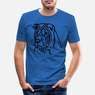 Sharpei sharpei © - www.dog-power.nl - Camiseta ajustada hombre