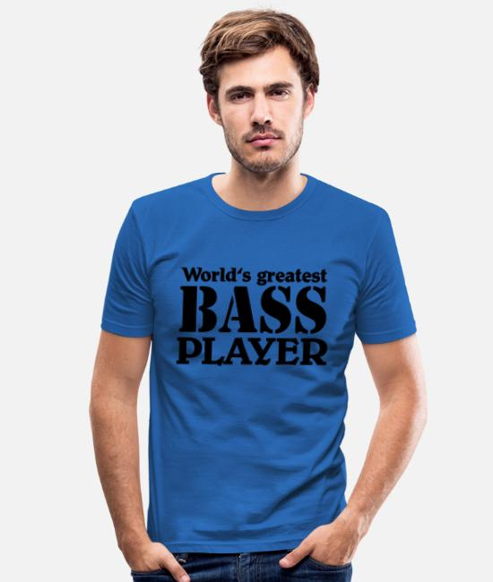 Bass Player T-Shirts - World's greatest Bass Player - Männer Slim Fit T-Shirt Königsblau