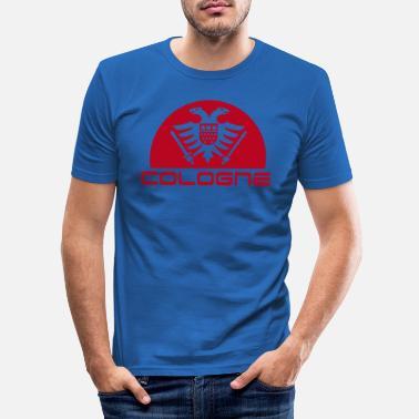 2cd3c716738082 Köln Adler Wappen mit Schriftzug Cologne - Männer Slim Fit T-Shirt