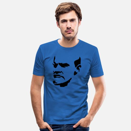 Lenin T-shirts - Lenin - Slim fit T-shirt mænd kongeblå