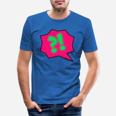 Sprechblase Bubble - Männer Slim Fit T-Shirt