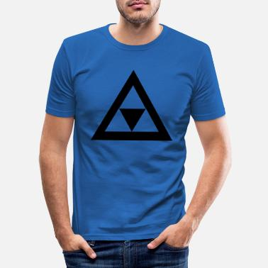 Triangle Triangle in the triangle - Men's Slim Fit T-Shirt