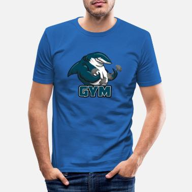 Bank To Sit Shark Gym - Slim fit T-skjorte for menn