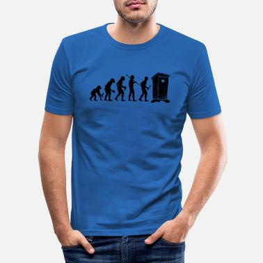 Toilettenhumor Evolution Toilettenhumor - Männer Slim Fit T-Shirt