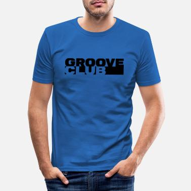 Groove Groove Club - Mannen slim fit T-shirt