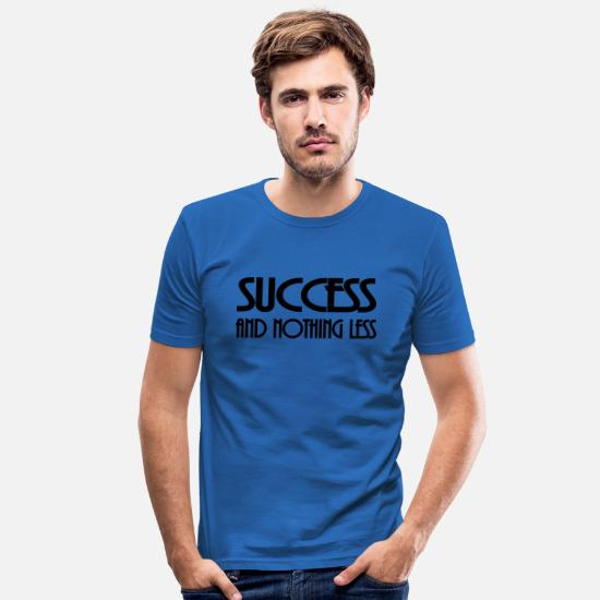 Val T-shirts - Success and nothing less - T-shirt slim fit herr kungsblå