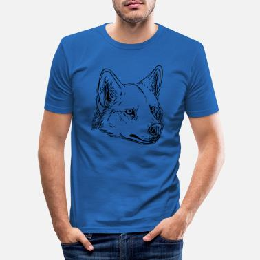 Vector Dog - vector - Men's Slim Fit T-Shirt