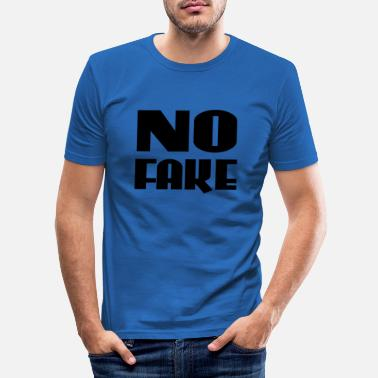Fake No Fake - Men's Slim Fit T-Shirt