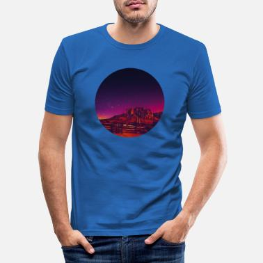 Wild West Retro - Männer Slim Fit T-Shirt