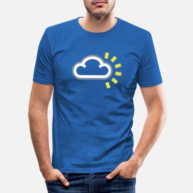 Weather silver lining - Men's Slim Fit T-Shirt