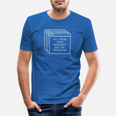 Windows Windows Fenster - All these open windows - Männer Slim Fit T-Shirt
