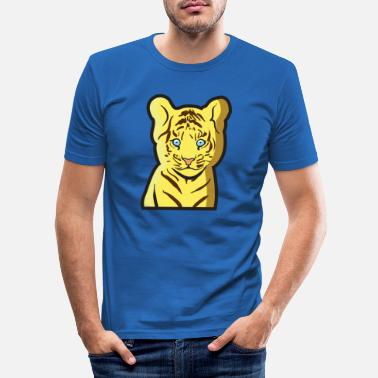 Tierkind Tiger als Tierkind - Männer Slim Fit T-Shirt
